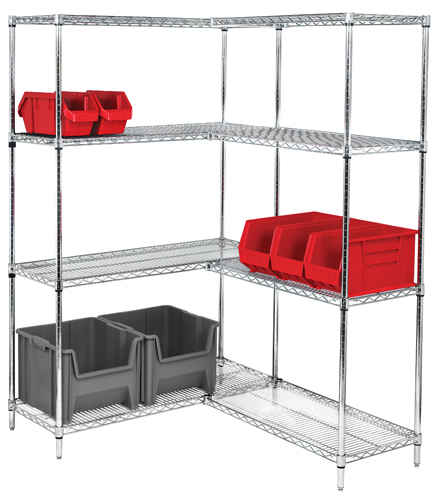 stainless steel wire shelving units 2